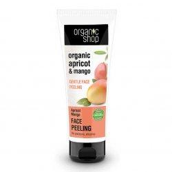 Organic Shop, delikatny peeling do twarzy Morela&Mango, 75ml