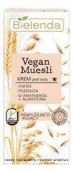 Bielenda Vegan Muesli, nawilżająco-kojący krem pod oczy, 15ml
