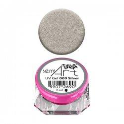 Semilac Semi-Art, żel do zdobień, 009 Silver, 5ml