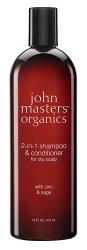 John Masters Organics, szampon do włosów przetłuszczających się i z łupieżem, 473ml