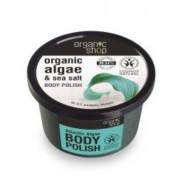 Organic Shop, naturalny odświeżający peeling do ciała Algi atlantyckie, 250ml