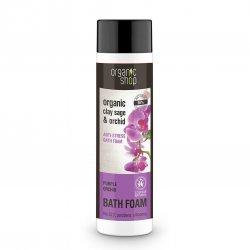 Organic Shop, naturalny relaksujący płyn do kąpieli Purple Orchid, 500ml