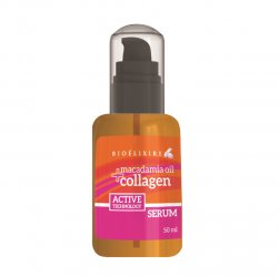 Bioelixire Macadamia Oil & Collagen, serum z olejkiem macadamia, 50ml