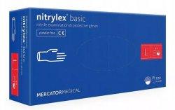 Mercator Nitrylex Basic, rękawiczki nitrylowe, niebieskie, rozmiar L, 100szt