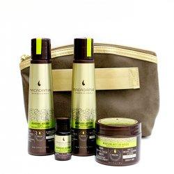 Macadamia, zestaw Nourishing Moisture, szampon 100ml + odżywka 100ml + maska 60ml + olejek 10ml