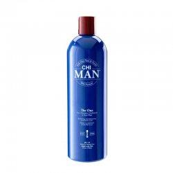 CHI Man The One 3w1, szampon, odżywka, żel pod prysznic, 739ml