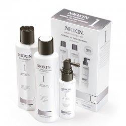 Nioxin System 1, zestaw przeciw wypadaniu, włosy lekko przerzedzone, cienkie, naturalne