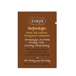 Ziaja Cupuacu, samoopalająca chusteczka do twarzy i ciała, 7ml