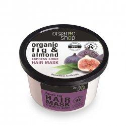 Organic Shop, naturalna ekspresowo nabłyszczająca maska do włosów Figa, 250ml