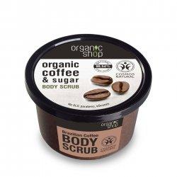 Organic Shop, naturalny zmiękczający peeling do ciała Brazylijska kawa, 250ml