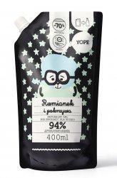 Yope, żel pod prysznic dla dzieci Rumianek i Pokrzywa, 400ml, refill