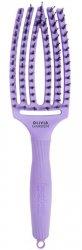 Olivia Garden Fingerbrush Bloom, szczotka z włosiem z dzika, średnia, lawenda