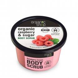 Organic Shop, naturalny odżywczy peeling do ciała Maliny ze śmietaną, 250ml