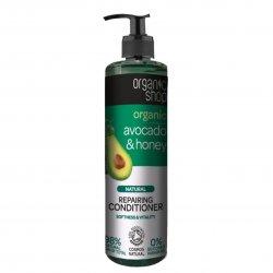 Organic Shop, naturalna odbudowująca odżywka do włosów Avocado&Miód, 280ml