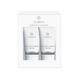 Clarena Trichology Line, Spider Silk&Hyaluron Mini Set, szampon 30ml + odżywka 30ml