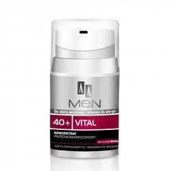 AA Men 40+, koncentrat do twarzy przeciwzmarszczkowy, 50 ml