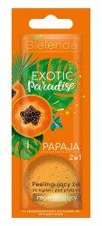 Bielenda Exotic Paradise Papaja, 2w1 peelingujący żel do kąpieli i pod prysznic
