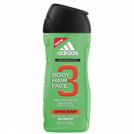 Adidas 3in1 Active Start, żel pod prysznic, 250ml (M)