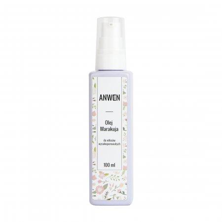 Anwen, olej do włosów wysokoporowatych, Marakuja, 100ml