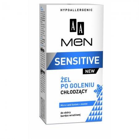 AA MEN Sensitive, żel po goleniu chłodzący do skóry bardzo wrażliwej, 100 ml