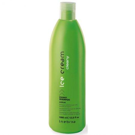 Inebrya Cleany, szampon przeciwłupieżowy z ekstraktem z cytryny i pomarańczy, 1000ml