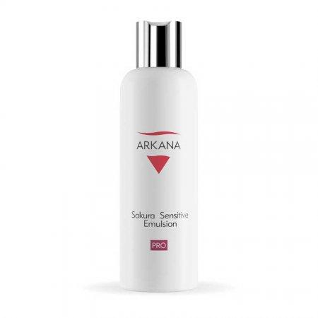 Arkana, Sakura Sensitive Emulsion, łagodząca emulsja do demakijażu, cera naczynkowa, 200ml, ref.38016