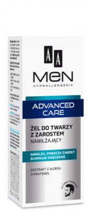 AA MEN Advanced Care, żel do twarzy z zarostem nawilżający, 50 ml
