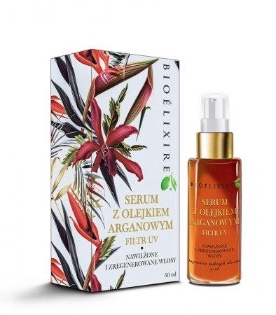 Bioelixire Argan Oil, serum do włosów z olejkiem arganowym, filtr UV, 50ml