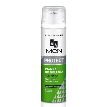 AA Men Protect, pianka do golenia ochronna do każdego typu zarostu, 250 ml
