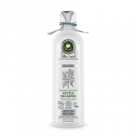 Babuszka Agafia White Agafia, organiczna odżywka z pokrzywą, miękkość i połysk, 280ml