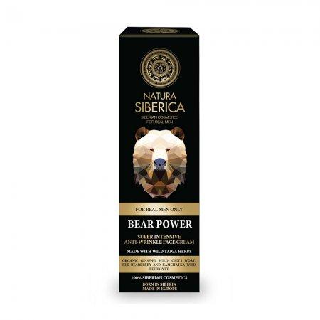 Natura Siberica Bear Power, przeciwzmarszczkowy krem do twarzy dla mężczyzn, 50ml