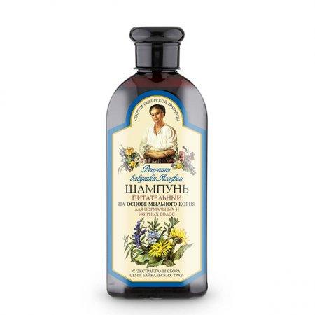 Babuszka Agafia, odżywczy szampon do włosów normalnych i przetłuszczających się, 350ml