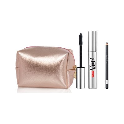 Pupa, zestaw z kosmetyczką mascara Vamp Extreme + kredka do oczu Easy Liner