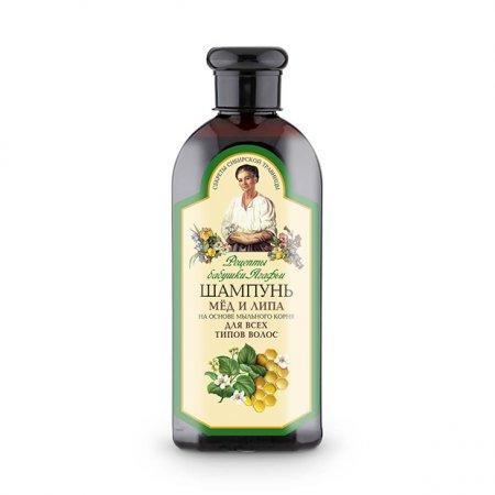 Babuszka Agafia, szampon do każdego rodzaju włosów, miód i lipa, 350ml