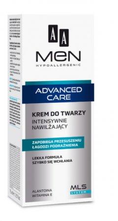 AA MEN Advanced Care, krem do twarzy intensywnie nawilżający, 75ml
