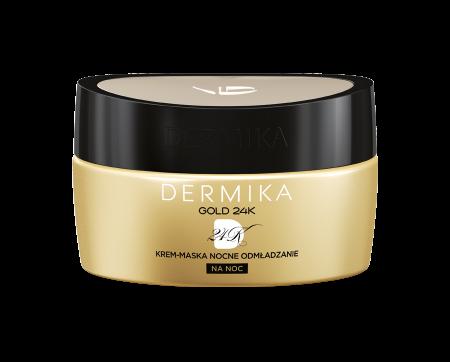Dermika Gold 24K, krem-maska, na noc, 50ml
