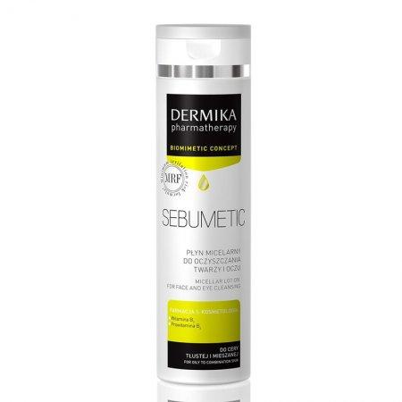 Dermika Pharmatherapy Sebumetic, płyn micelarny do oczyszczania twarzy i oczu, 200ml