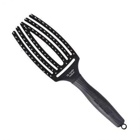 Olivia Garden Finger Brush, szczotka do rozczesywania i masażu, włosie dzika, średnia