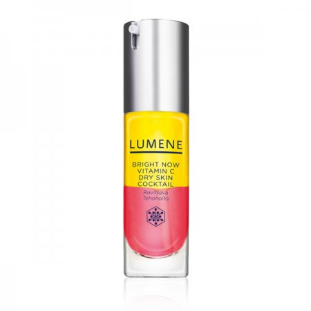 Lumene Vitamin C+, luksusowy roz�wietlaj�cy koktajl witaminowy do twarzy, cera sucha, 30ml