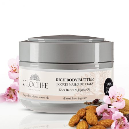 Clochee, bogate masło do ciała, migdałowo-kwiatowe, 250ml