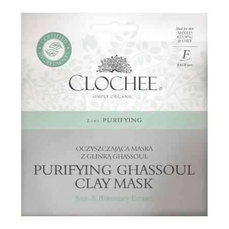 Clochee, oczyszczająca maska z glinką ghassoul, 2x6ml