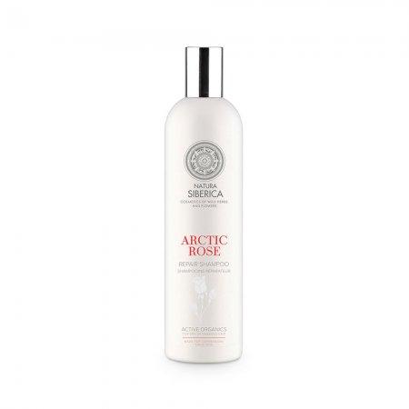Natura Siberica Arctic Rose, odbudowujący szampon do włosów, 400ml