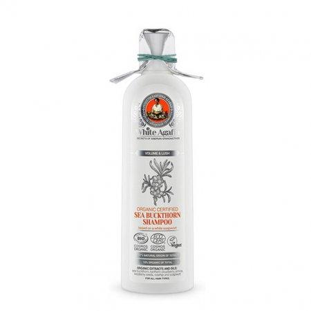 Babuszka Agafia White Agafia, organiczny szampon rokitnikowy, objętość i gęstość, 280ml