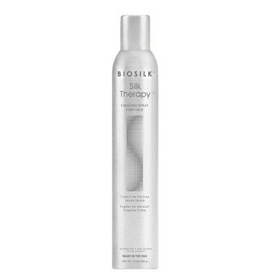 Biosilk Silk Therapy Finishing Spray Firm Hold, bardzo mocny lakier do włosów z jedwabiem, 284g