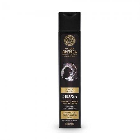 Natura Siberica Beluga, szampon zapobiegający wypadaniu włosów dla mężczyzn, 250ml