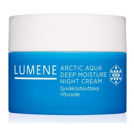 Lumene Arctic Aqua, głęboko nawilżający krem do twarzy na noc, 50ml