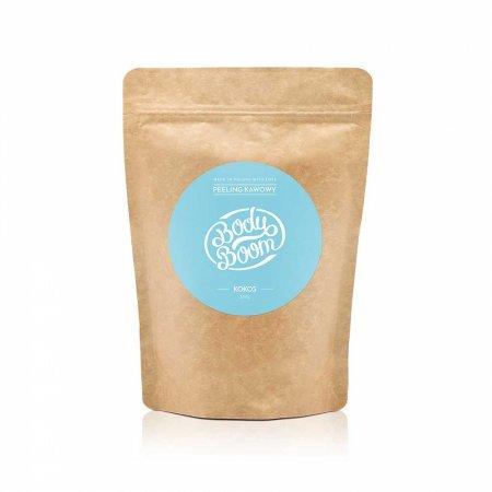 BodyBoom, peeling kawowy do ciała, Imprezowy Kokos, 200g