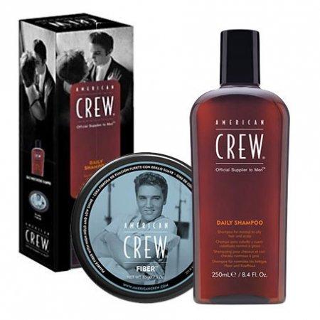 American Crew King's Duo, zestaw pasta włóknista Fiber 85g + szampon Daily Moisturizing 250ml