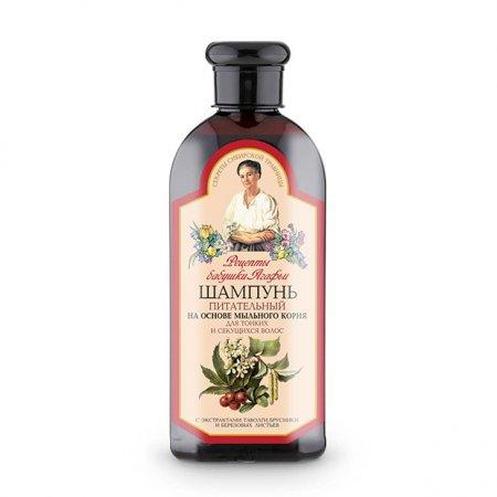 Babuszka Agafia, odżywczy szampon do włosów cienkich i rozdwajających się, 350ml