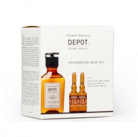 Depot Invigorating, zestaw przeciw wypadaniu, szampon 105 50ml + odżywka stymulująca 205 2x5ml